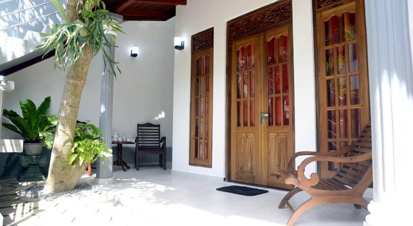 Front entrance to a room in Aayu's Guest in Bentota