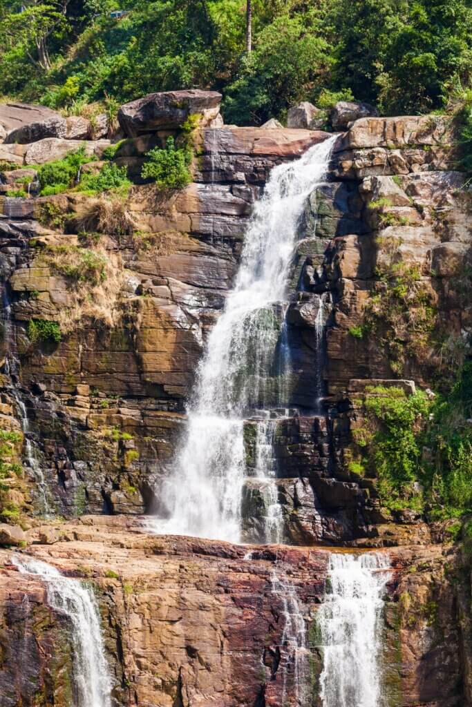 Image of Ramboda Falls is 109m high and 11-th highest waterfall