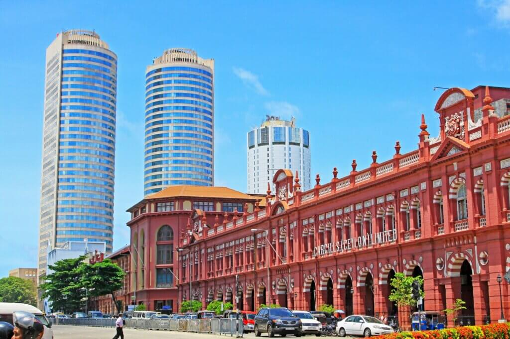 Image of Colombo Colonial Building and World Trade Center Sri Lanka