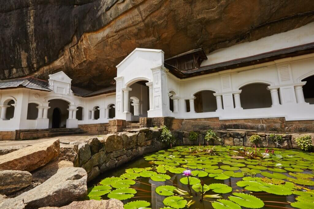 Image of Entrance to Golden Temple of Dambulla