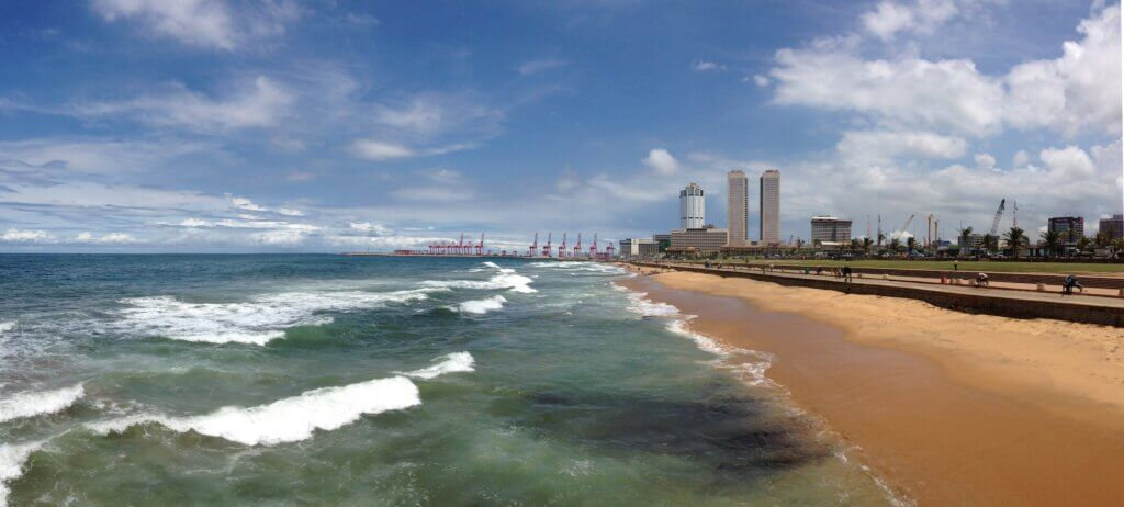 Image of Panorama Galle Face Green in Colombo Sri Lanka