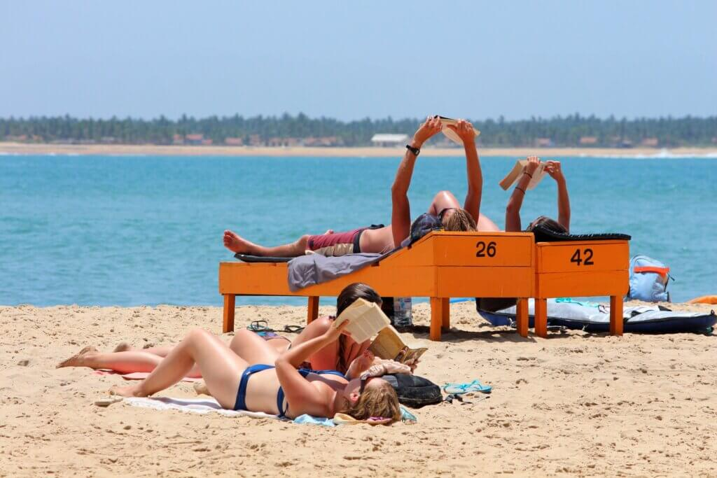 Image of People relax on the beach Arugam bay