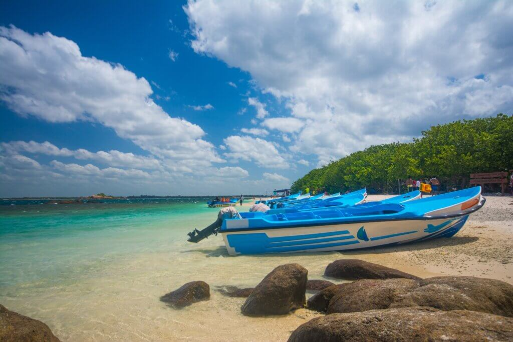 Image of Pigeon island in Trincomalee