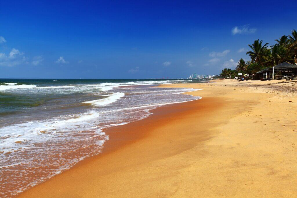 Image of Sandy beach of the city of Colombo