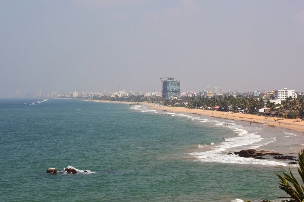 Image of View of colombo shoreline from mount lavinia sri lanka