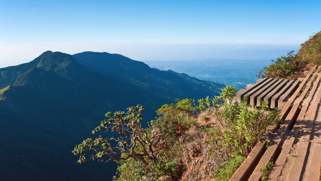 Image of View from World's End Horton Plains National Park