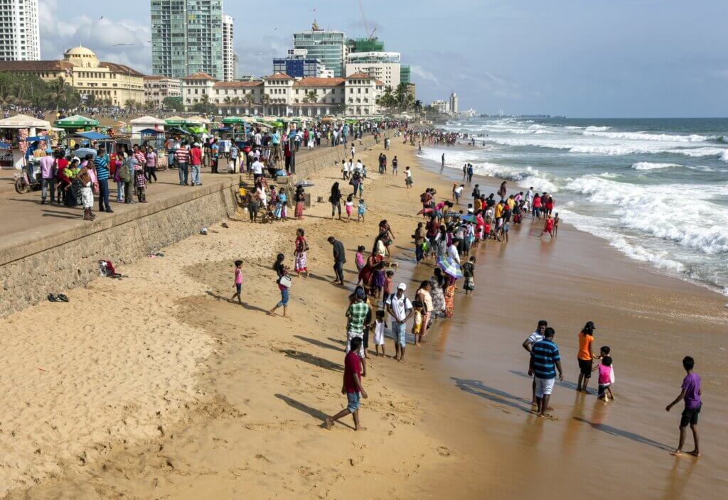Image of Visitors to Galle Face Green Sri Lanka.