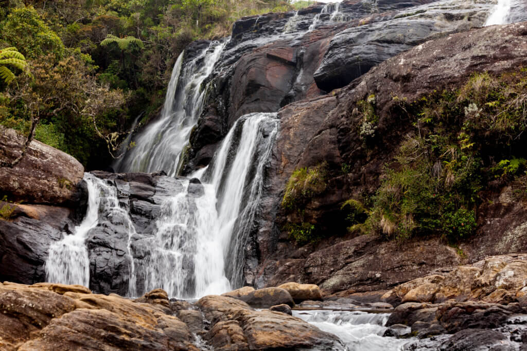 Image of Wild waterfall in Horton Plains National Park