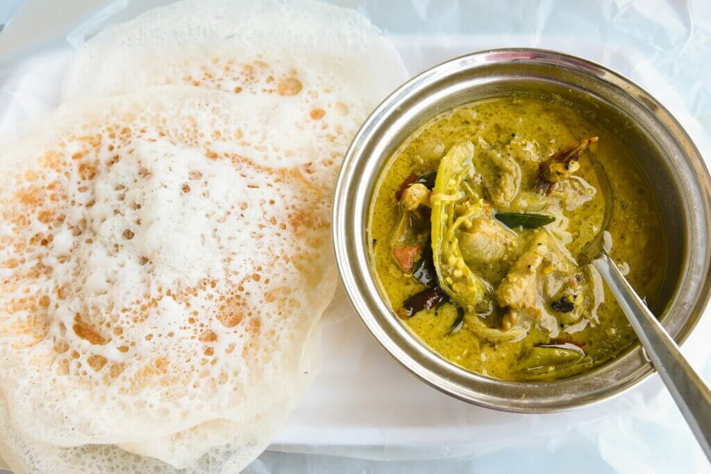 Image of Appam with duck roast curry