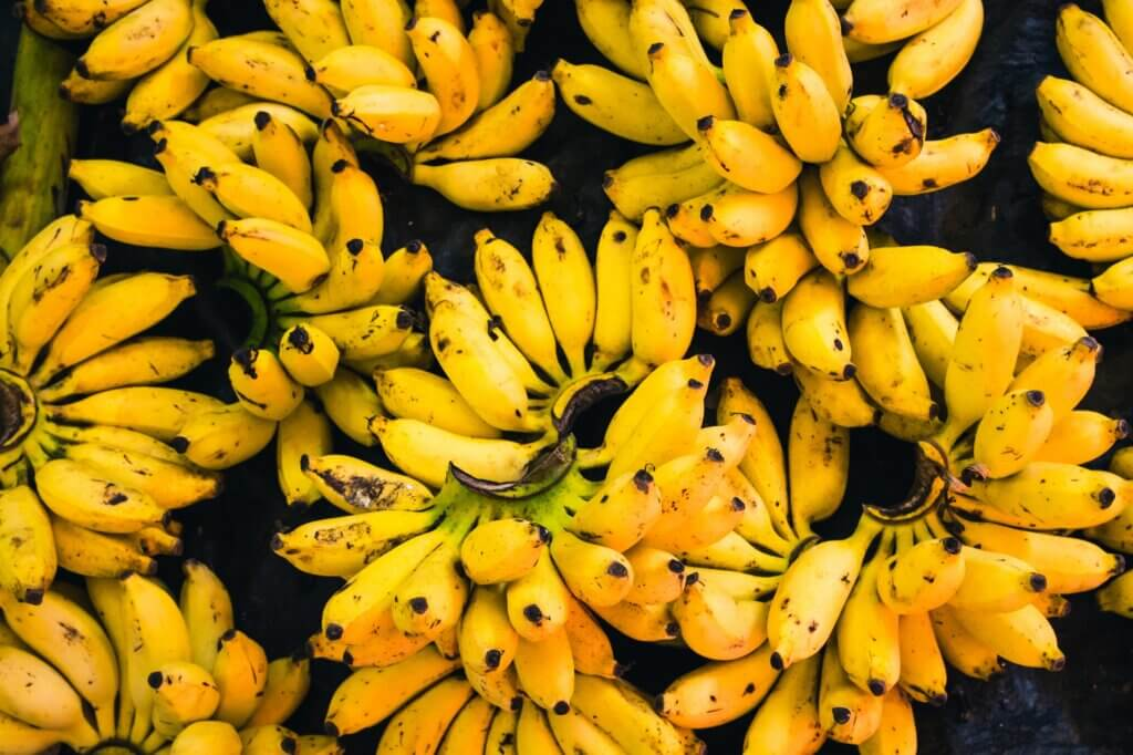 Image of Bananas sold in a market in Tangalle Sri Lanka