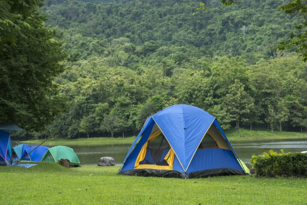 Image of Camping tent in campground at national park