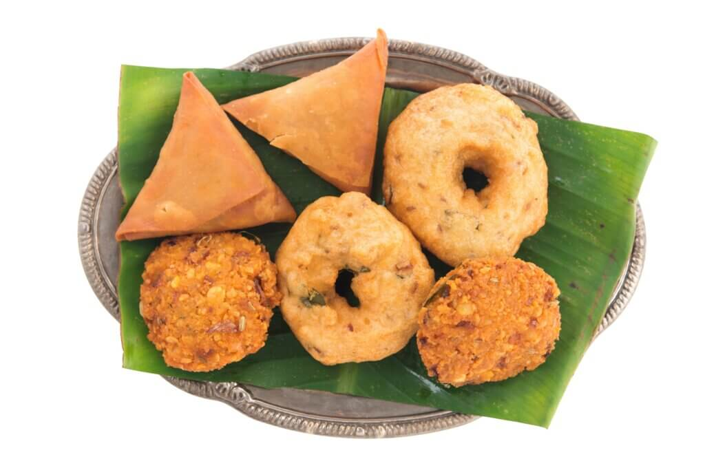 Image of Delicious traditional Indian snack platter sri lanka