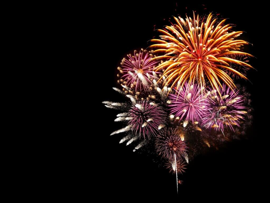 Image of Fireworks light up the sky with dazzling display
