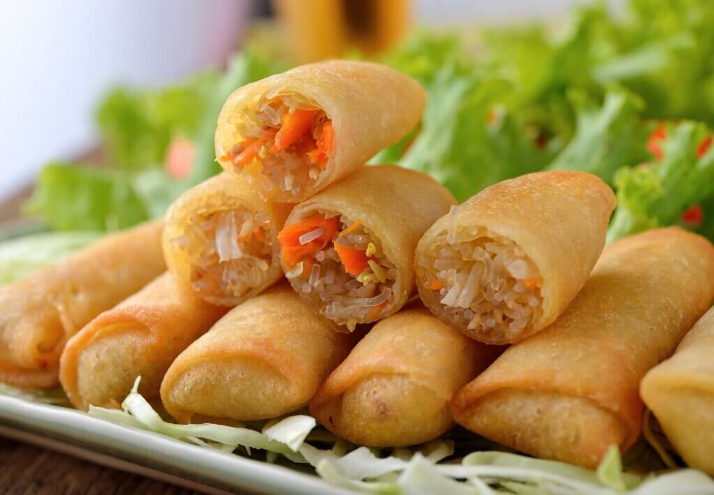 Image of Fried Chinese Traditional Spring rolls food sri lanka