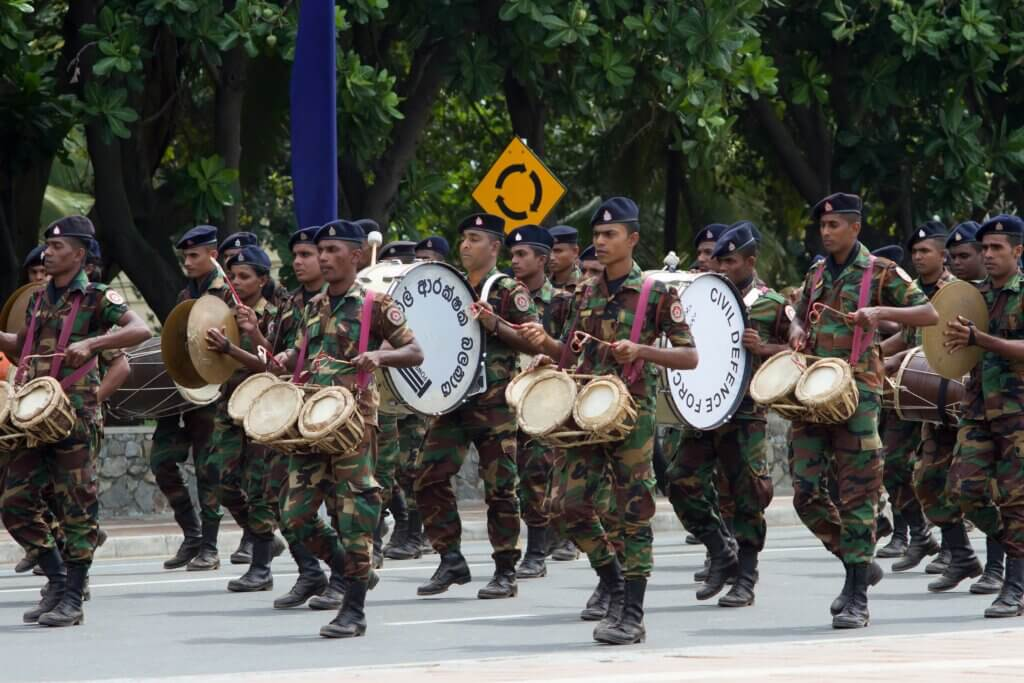Image of Independence Day parade rehearsal in Colombo