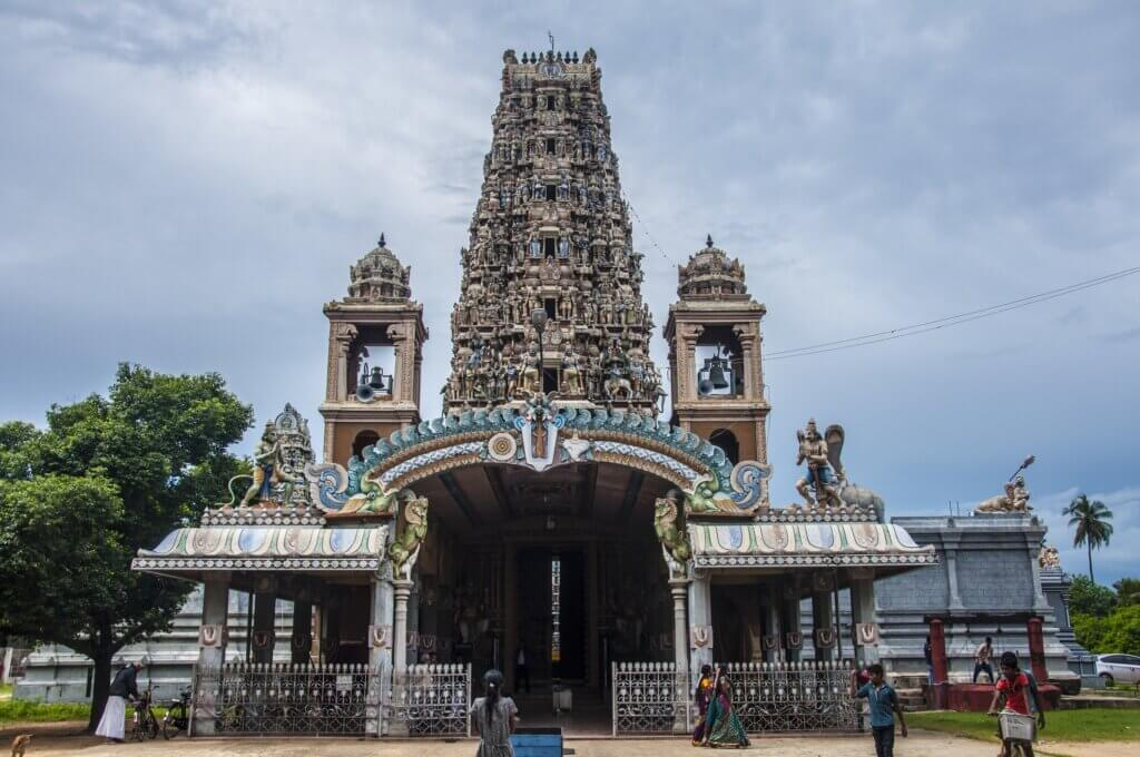 Image of Indian temple stand sri lanka