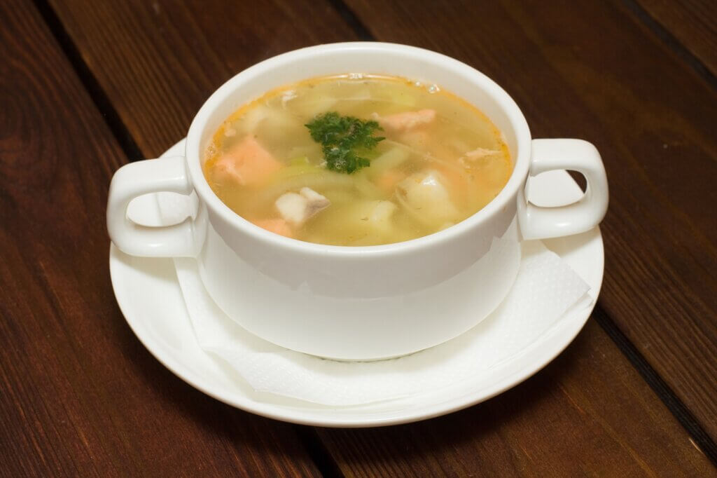 Image of Soup with seafood in restaurant sri lanka