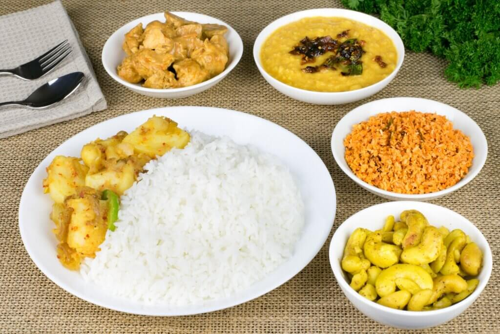 Image of Style vegetarian rice and curry dishes