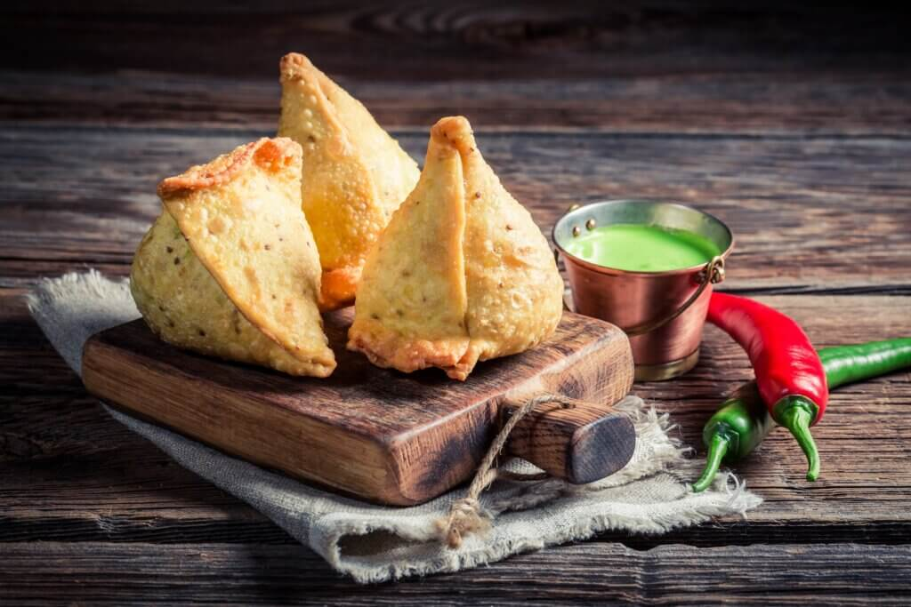 Image of Yummy samosa with vegetables