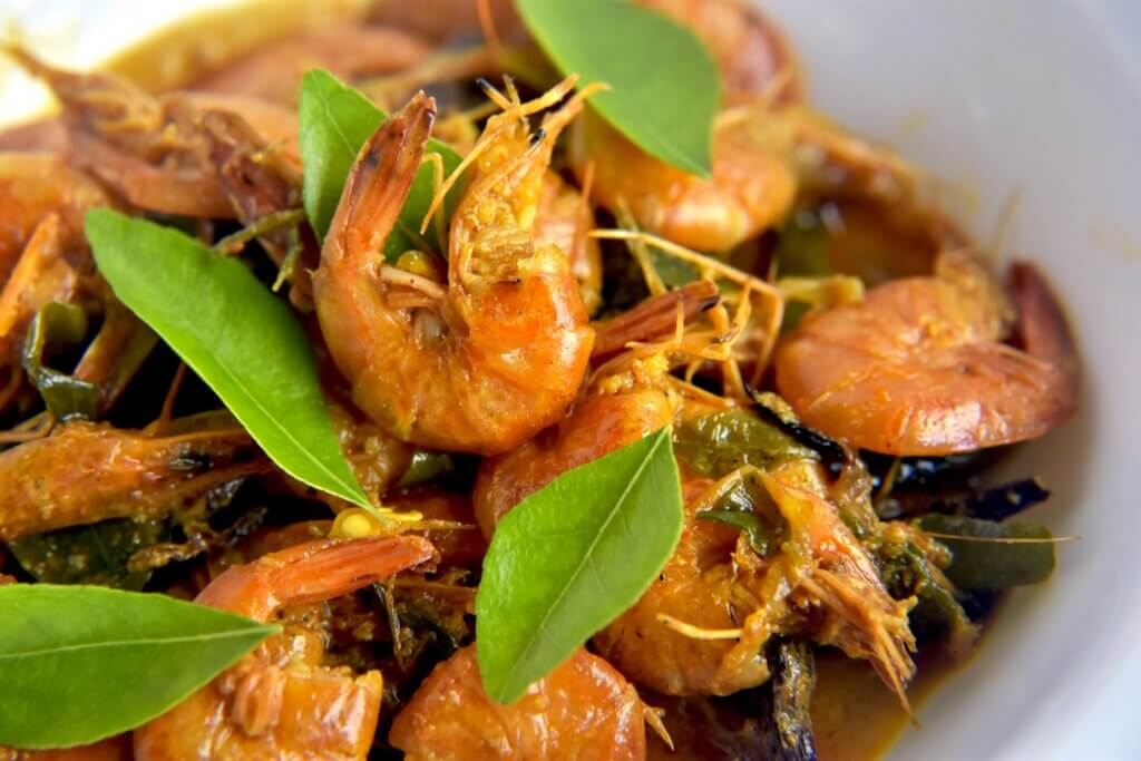 Image of spicy prawn Curry