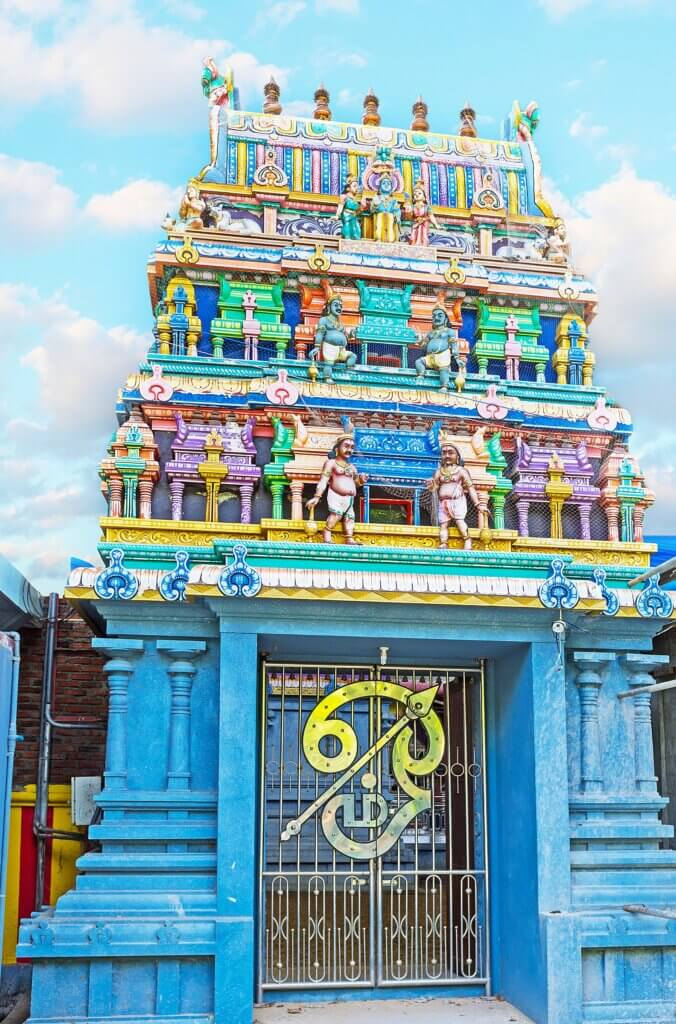 Image of Richly decorated gates to Murugan Temple