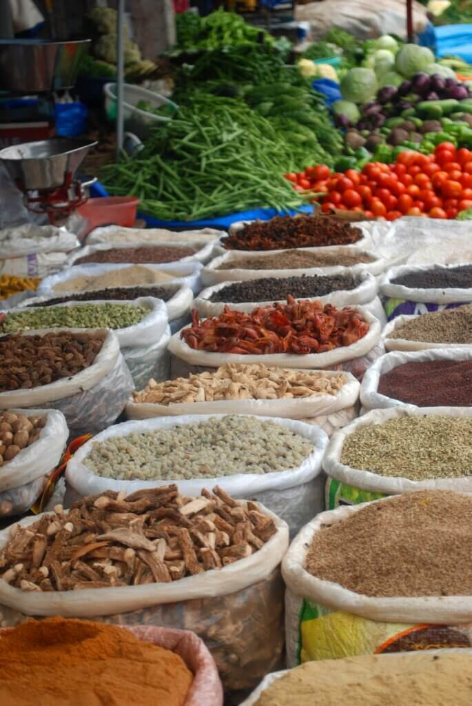 Image of Spices ready to be sold at a market