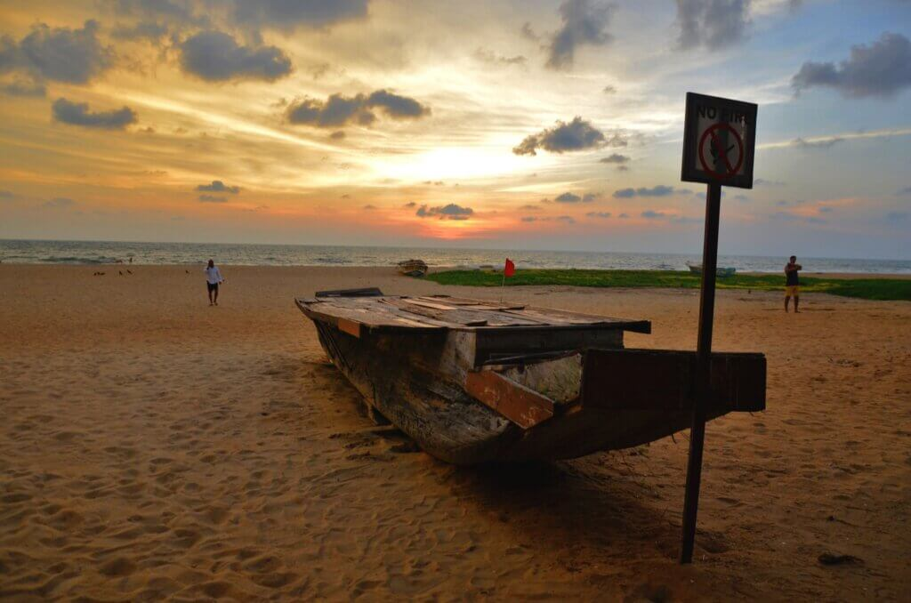 Image of Sunset at the beach in Colombo