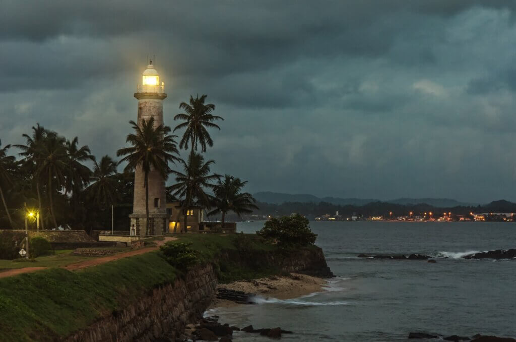 Image of lighthouse in Galle fort